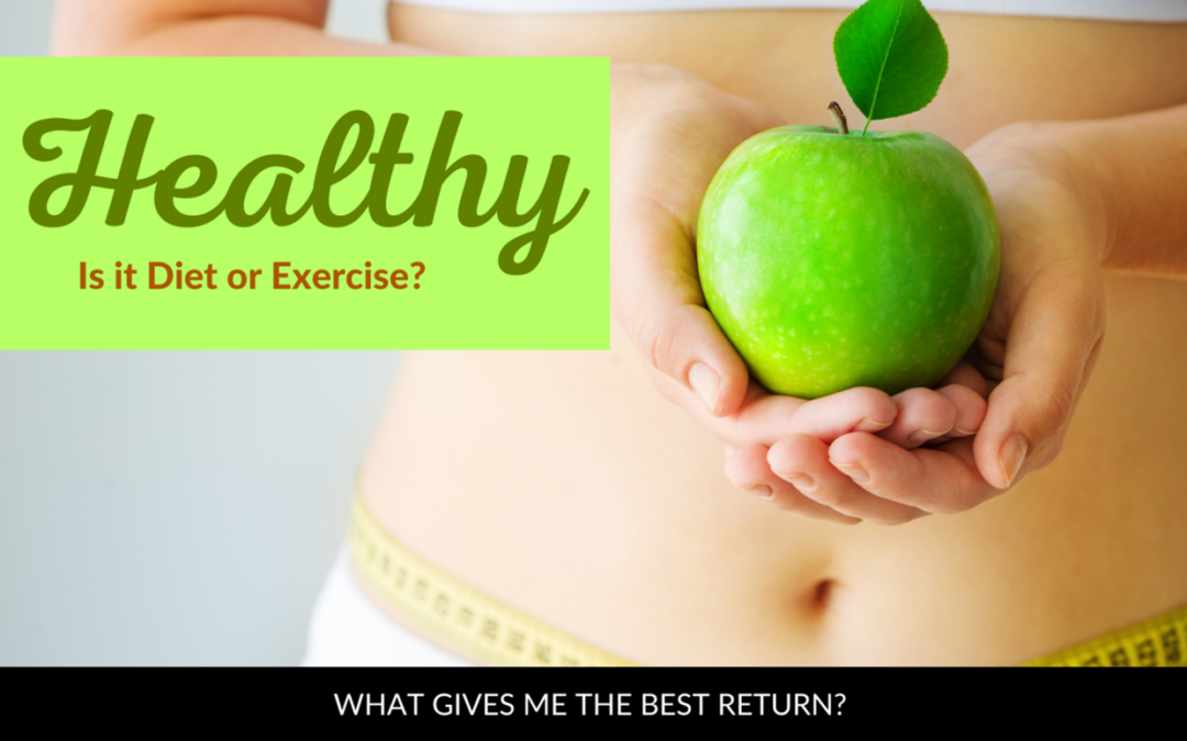 Healthy: Is it Diet or Exercise? What gives me the best return?